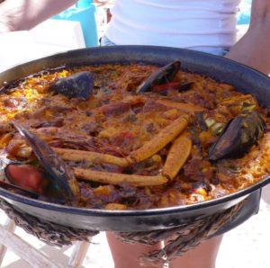 paella pour deux Atzaro beach