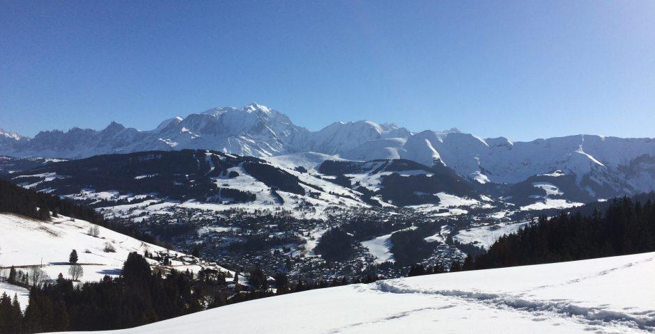 megeve randonnee-raquette-panorama-montblanc