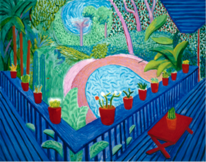 David Hockney - Red Pots In The Garden 2000