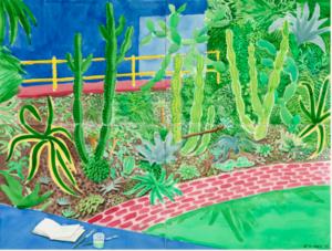 David Hockney - Cactus Garden III 2003