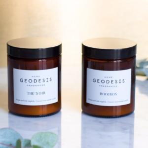 bougie geodesis cire vegetale idée cadeau chic et durable