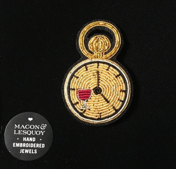 broche brodée horloge Macon et Lesquoy geneve le Colibry concept store