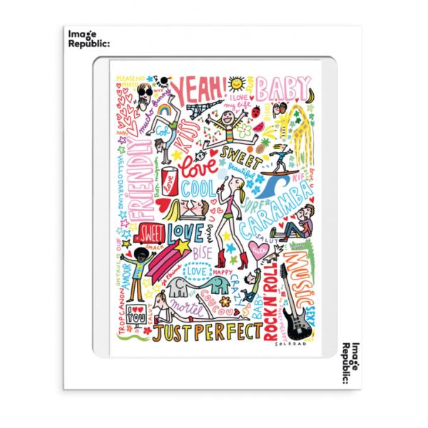 Affiche Soledad graffitis le colibry concept store geneve online