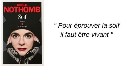 Soif Amelie Nothomb roman blog geneve livre