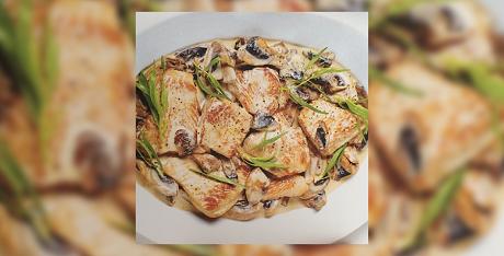 poulet-escalope-champignon