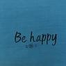 housse de coussin be happy bleu