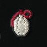 broche brodée main grenade Macon et Lesquoy geneve le Colibry concept store