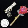 broche brodée main gun and rose Macon et Lesquoy geneve le Colibry concept store